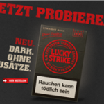 neues lucky strike logo design auf der zigarettenschachtel. Black Bedroom Furniture Sets. Home Design Ideas