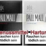 Pall Mall Limited Black und Silver Zigaretten sind da