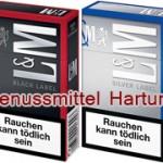 L&M Zigaretten Black und Silver Label